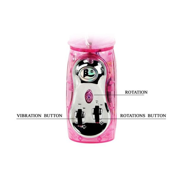 Baile Travel Partner Rabbit Vibe Multispeed Rotation and Vibration in Pink