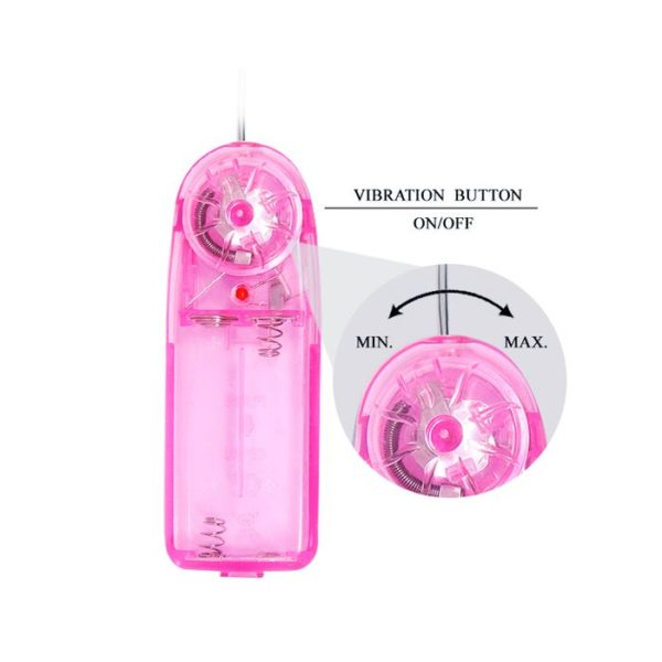 Baile Two Vibrating Eggs Pack in Clear Pink