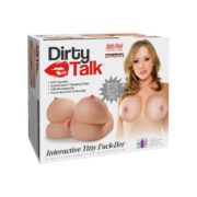 Pipedream Extreme Toyz Dirty Talk Life-Like Fanta Flesh Vibrating Masturbator Interactive Titty Fuck-Her