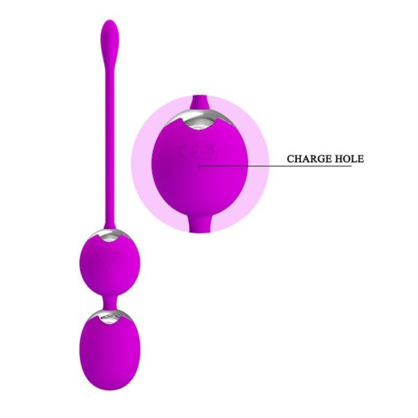 Pretty Love Remote Control Kegel Balls Willie 12 Modes Rechargeable by USB