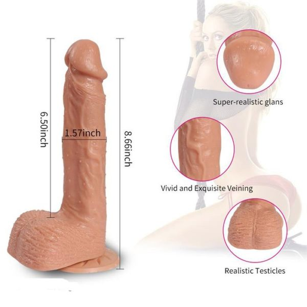 Realistic Dildo Vibe Telescopic Movement Kyle 16.5 cm by Shequ