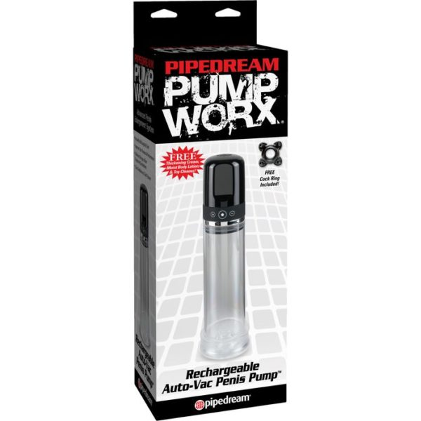 Rechargeable Auto-Vac Penis Pump in Black by Pipedream Pump Worx